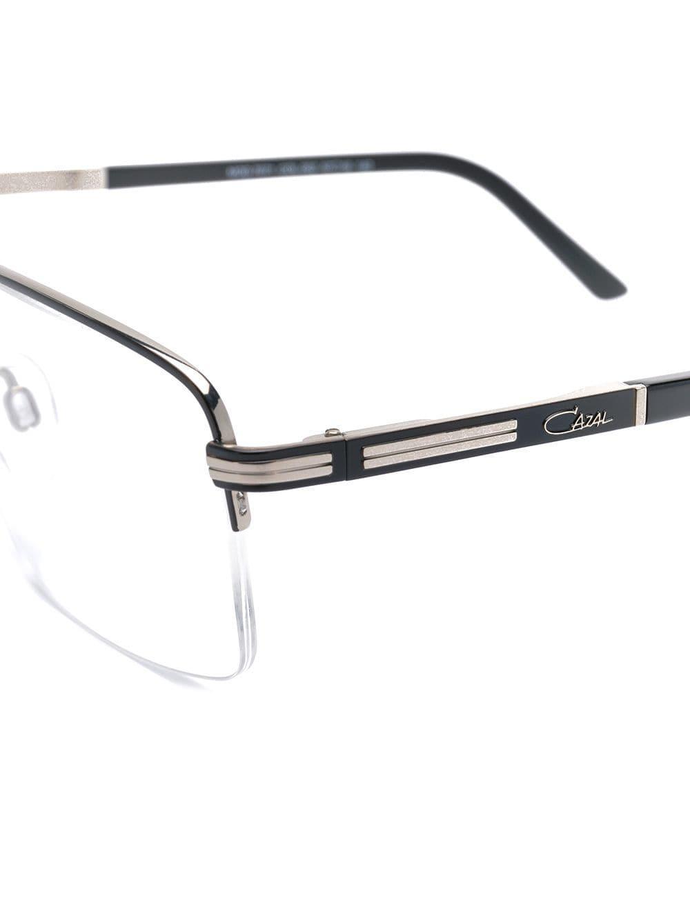 b74e93214dc Lyst - Cazal Rectangular Half Frame Glasses in Metallic for Men