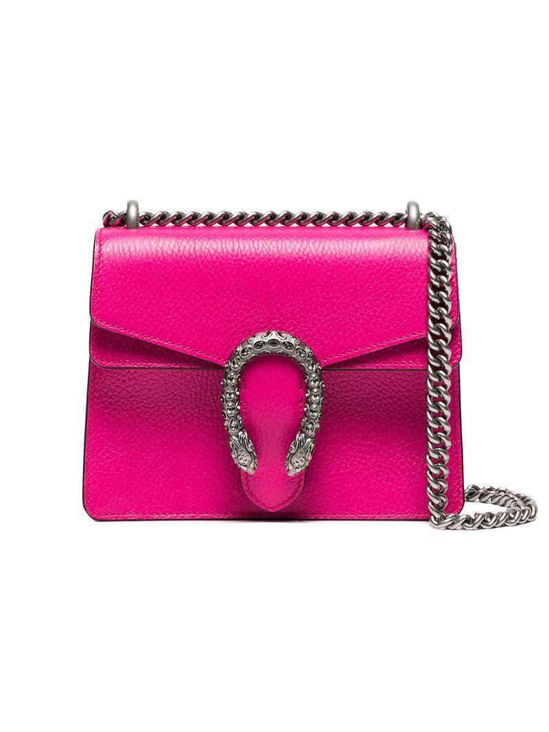 Lyst - Petit sac porté épaule Dionysus Gucci en coloris Rose 2499f991807
