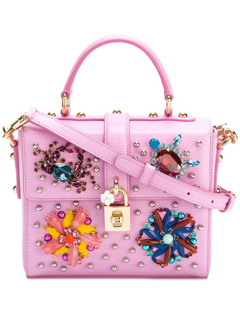 5afd5041a0c5 Lyst - Dolce   Gabbana Dolce Soft Box Tote in Pink