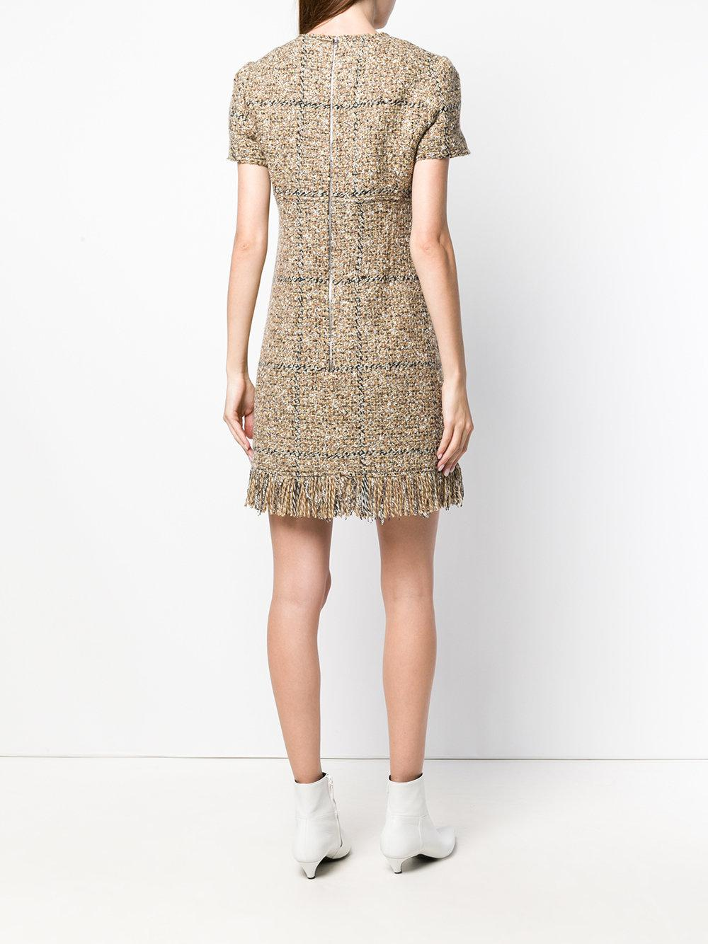 3f4275eacb5 Lyst - Sonia Rykiel Bouclé Mini Dress in Natural