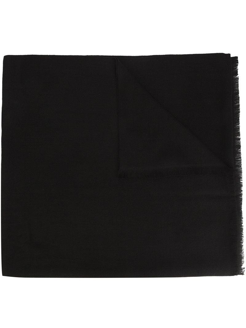 Herringbone Shawl scarf - Black Denis Colomb ba5SNjr