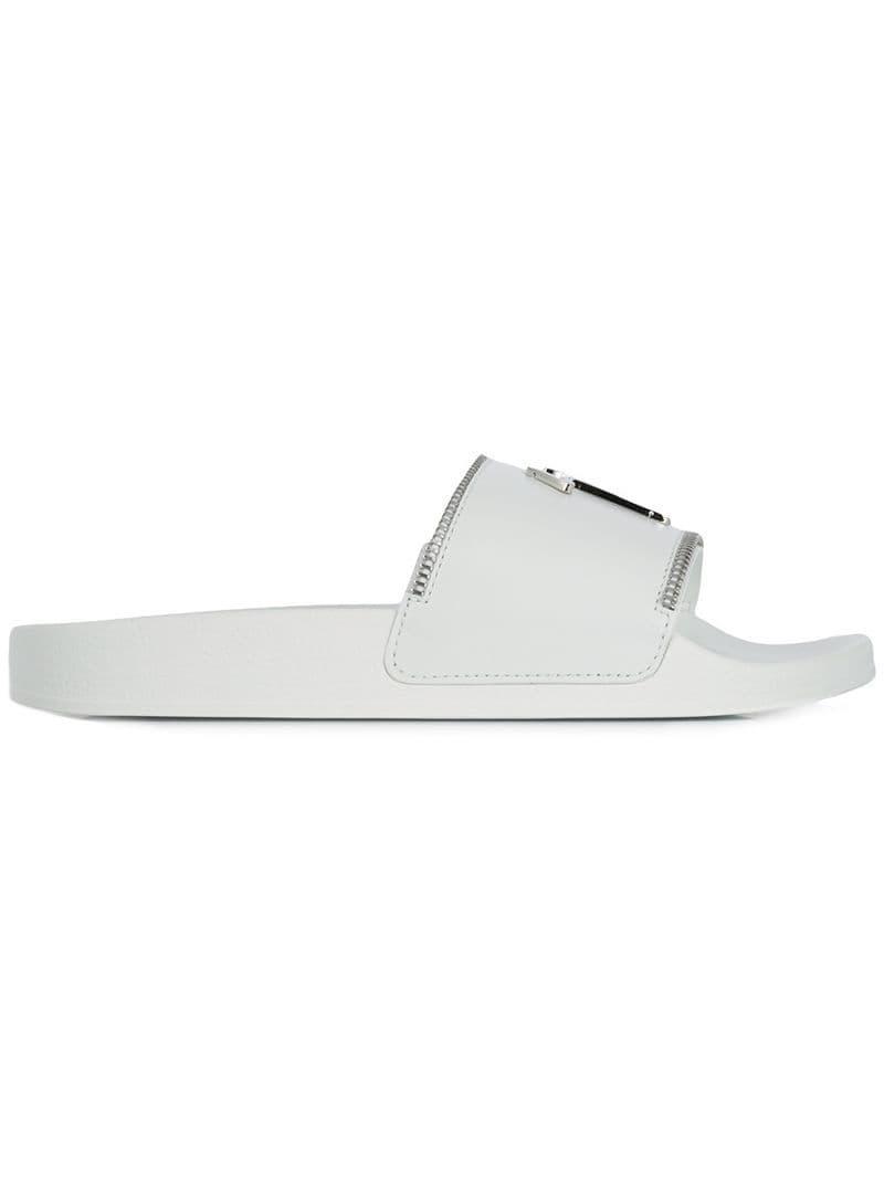 0ffde4991 Lyst - Giuseppe Zanotti Brett Logo Slides in White for Men
