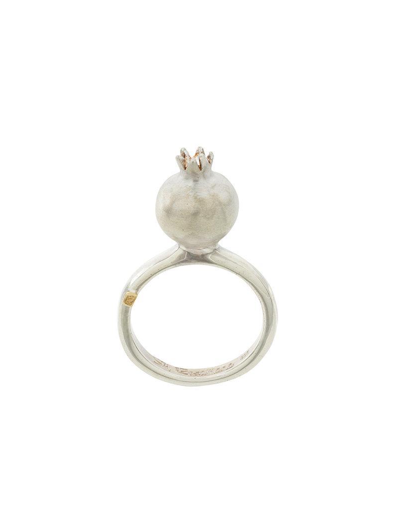 Rosa Maria circular diamond ring - Metallic yBocs