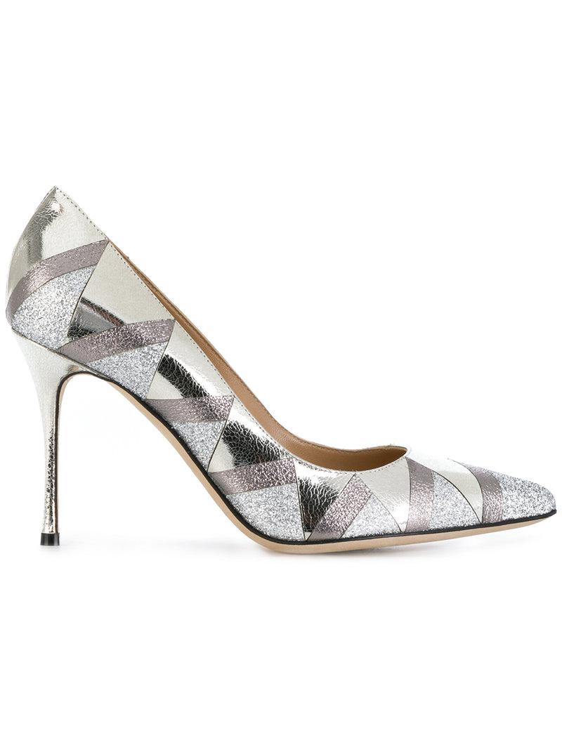 Sergio Rossi mirrored triangle pumps free shipping largest supplier free shipping 6b5I3r