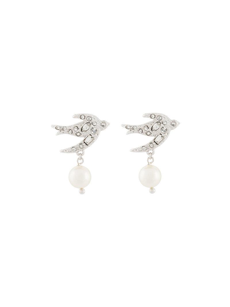 E.M. pearl embellished earring - Metallic L0Sl7Ck
