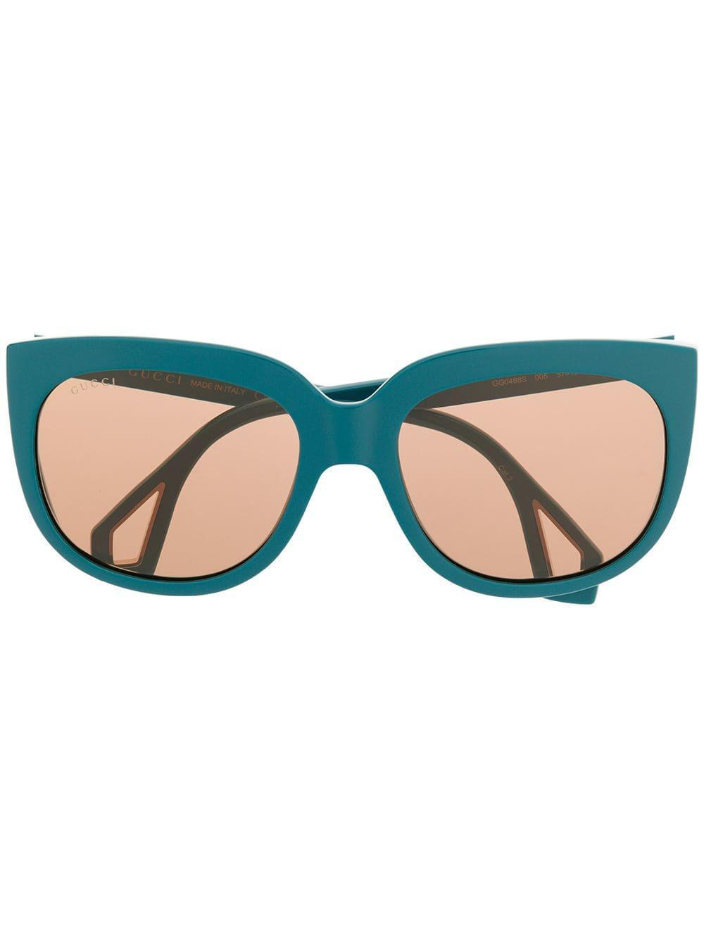 ecf1898daa1 Lyst - Gucci Side Window Frame Sunglasses in Blue