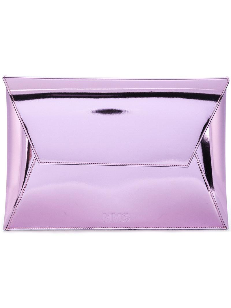 metallic envelope clutch bag - Pink & Purple Maison Martin Margiela e3OI7L