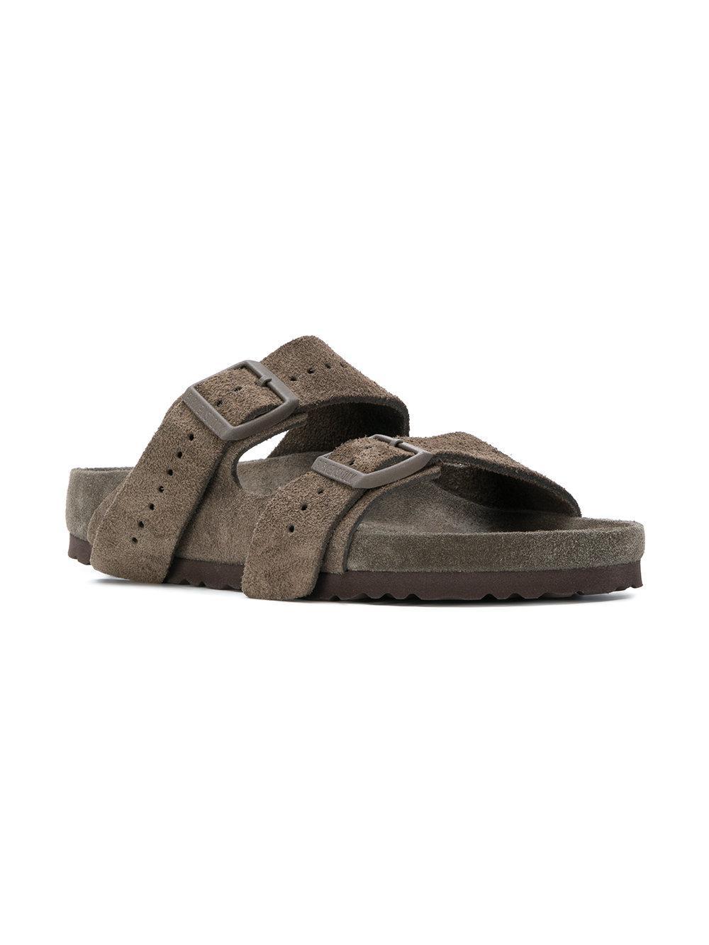 ae56a580e86d Rick Owens Birkenstock X Arizona Sandals in Brown - Lyst