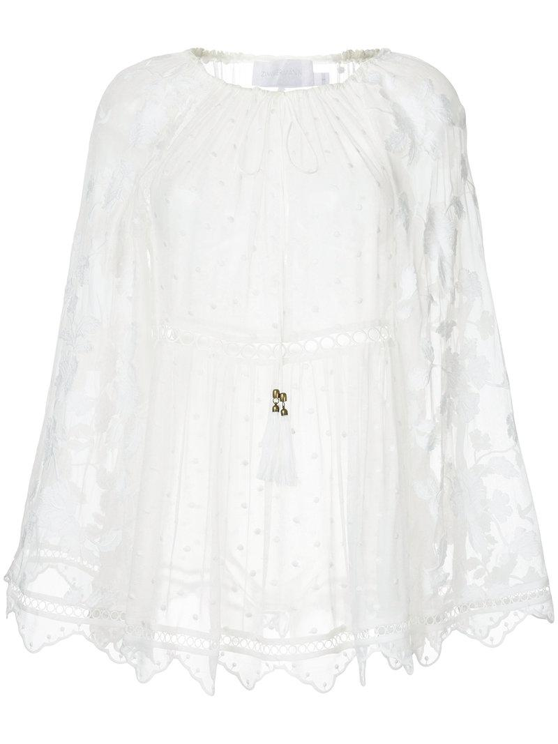Macgraw floral embroidered blouse - Blanco farfetch EmeDoP4aF