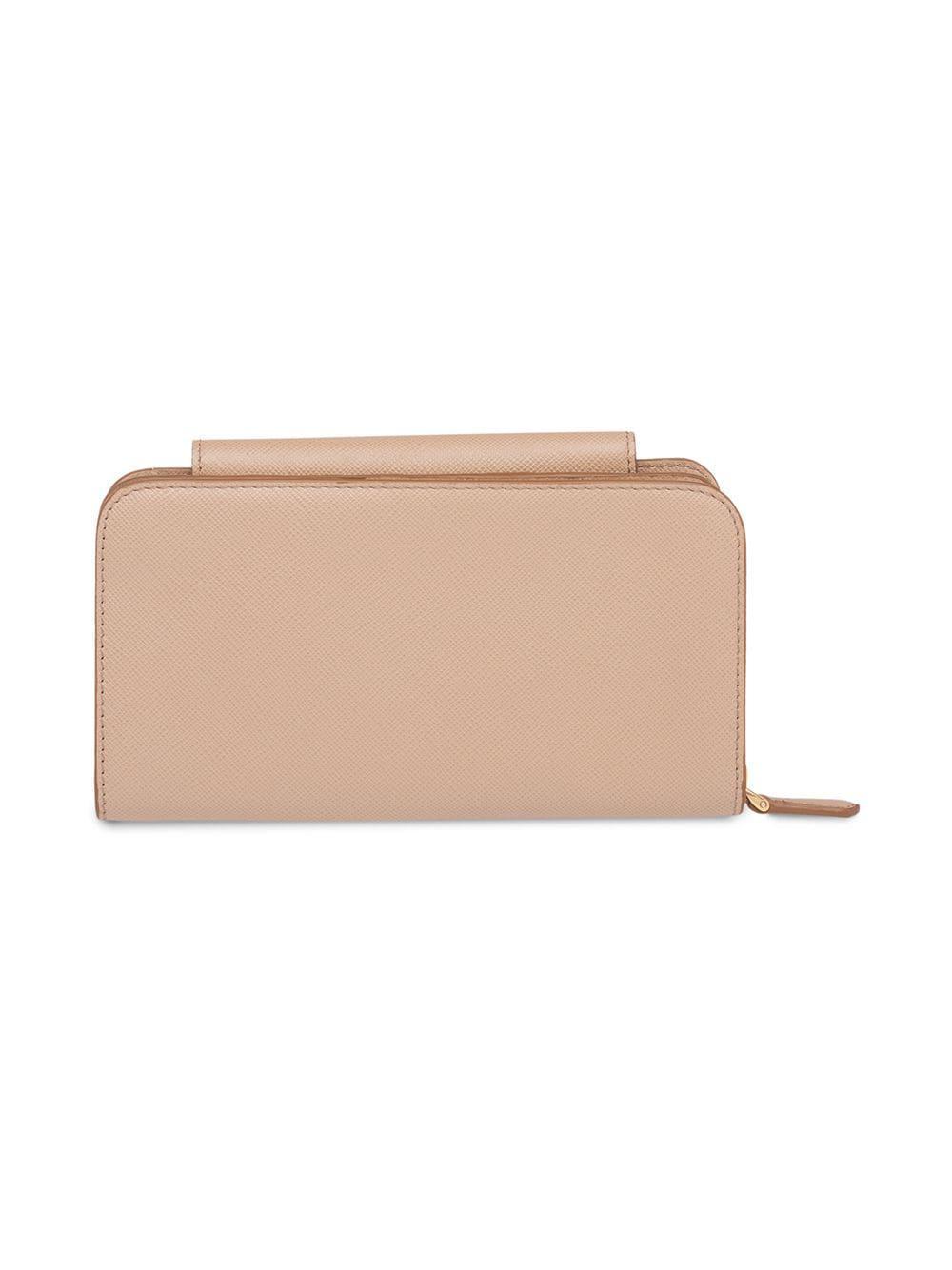 8a14052a50f8 Prada Saffiano Leather Mini Bag in Natural - Lyst