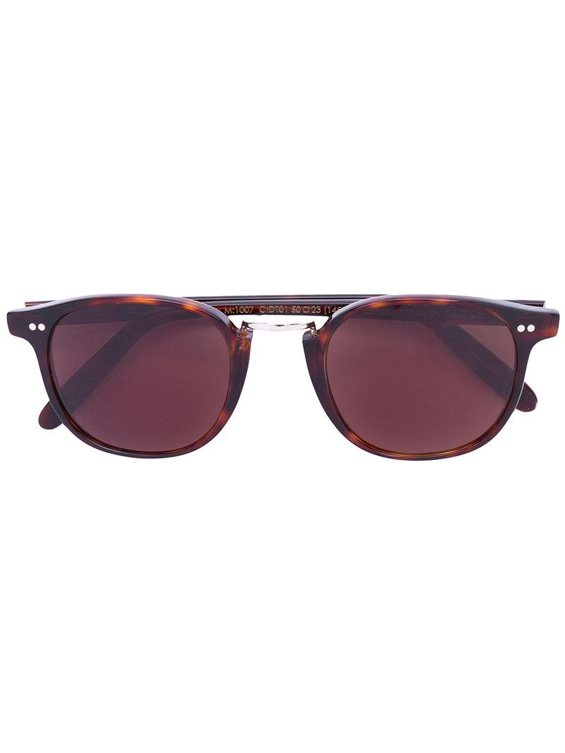 c674529675 Gafas de sol redondas Cutler & Gross de color Marrón - Lyst