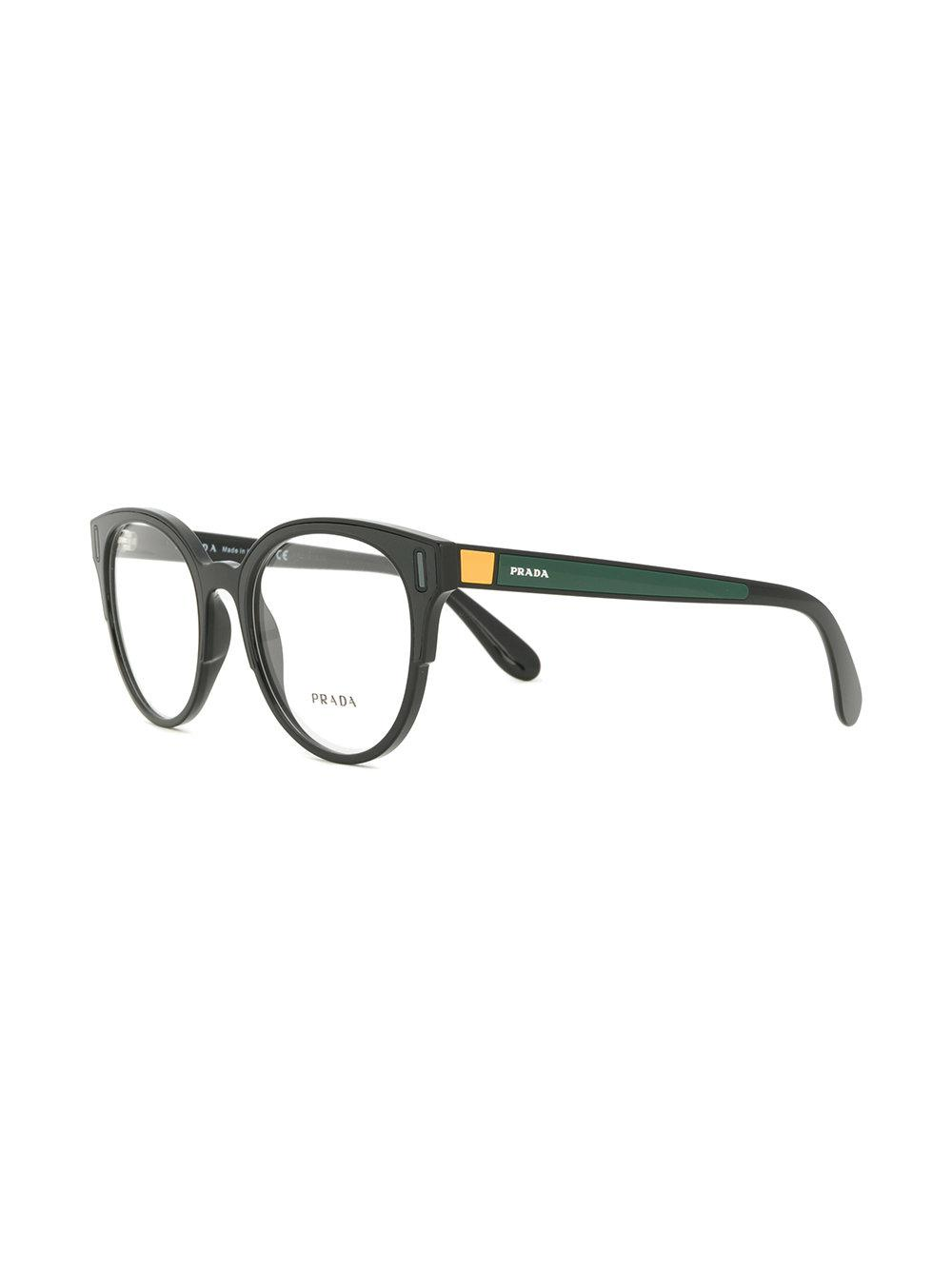 69c7d7d123f6 Prada Rounded Cat Eye Glasses in Black - Lyst