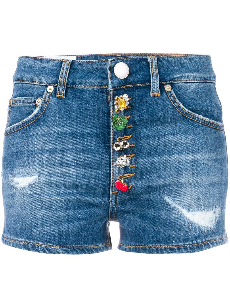 decorative buttoned shorts - Blue Dondup Clearance Extremely Very Cheap Cheap Online Clearance Footlocker Pictures Buy Cheap Latest Collections X51w3wXk