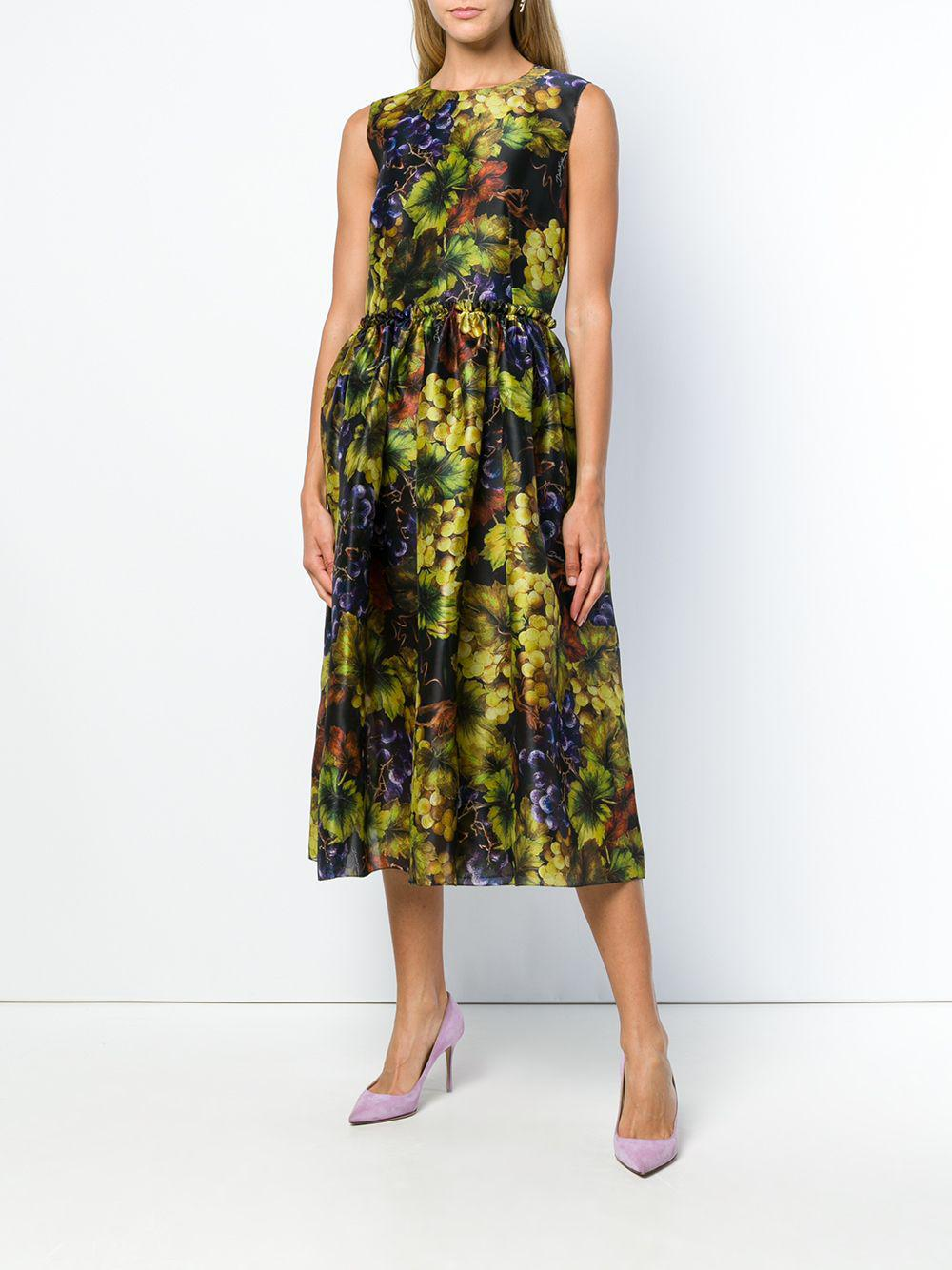 Lyst - Dolce   Gabbana Grapes Print Dress in Black 7608684f1