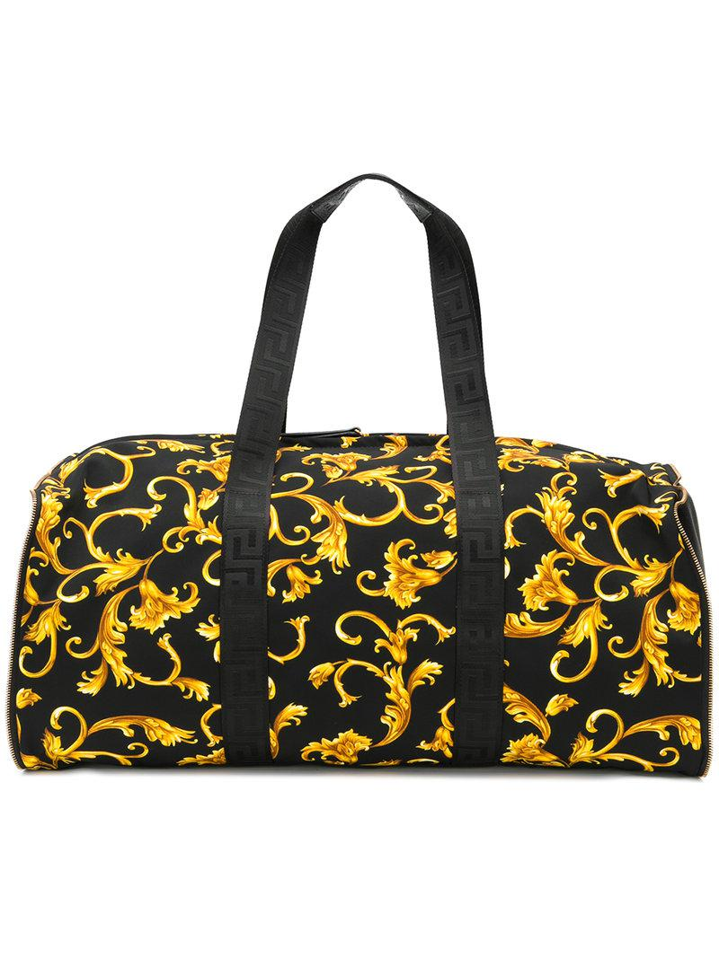 9042a4393d Versace Baroque Print Holldall in Black for Men - Lyst