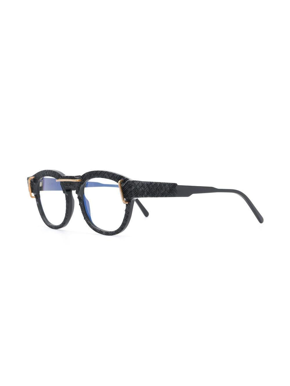 ff99b0ba8a Kuboraum - Black Textured Frame Glasses - Lyst. View fullscreen