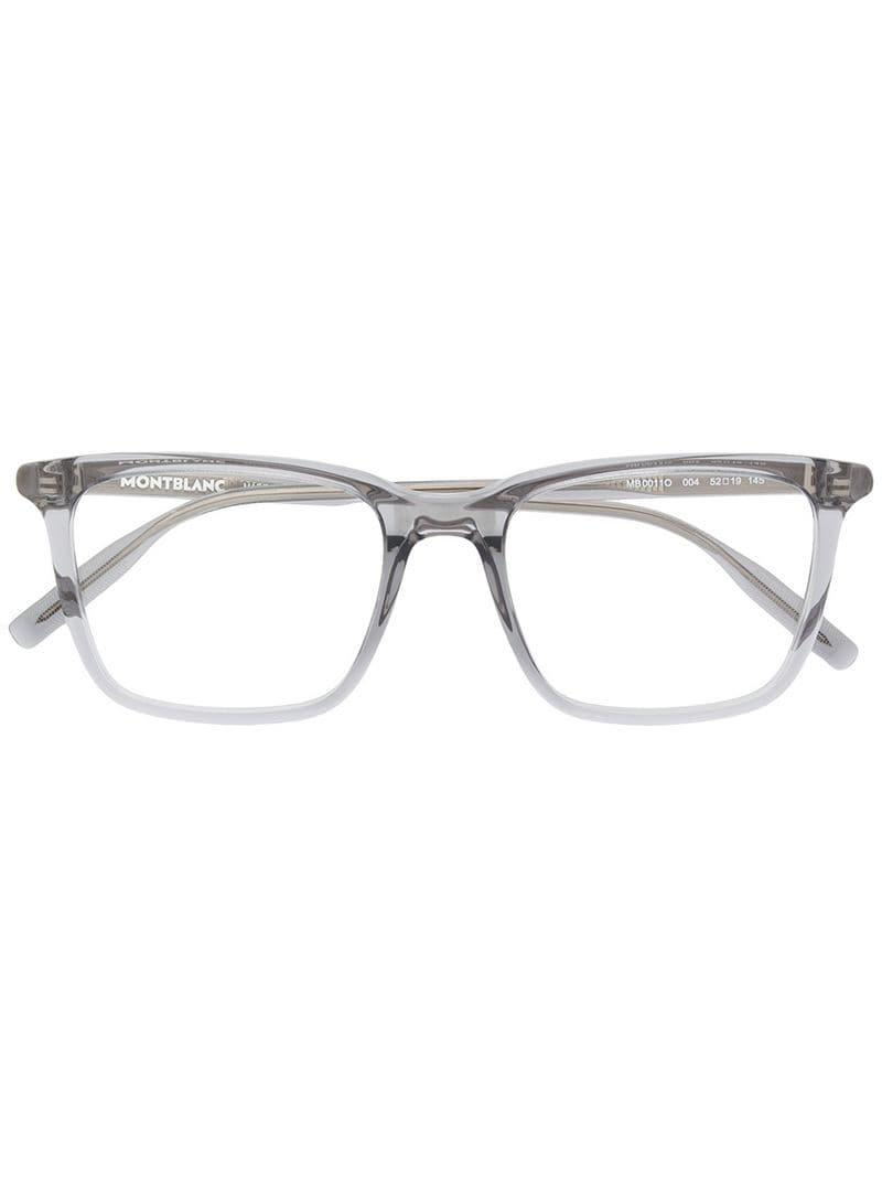 b38925caa528 Montblanc Square Frame Glasses in Gray for Men - Lyst