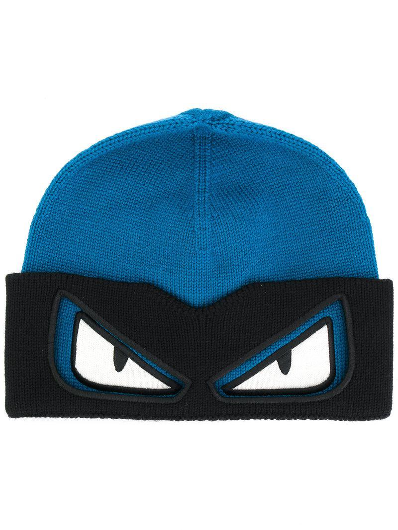 Fendi Bag Bugs Beanie Hat in Blue for Men - Lyst cd1831b7d37