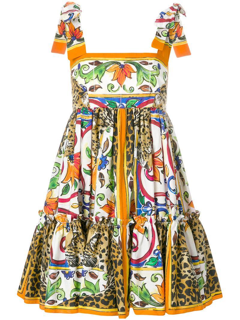 mosaic Majolica print dress - Multicolour Dolce & Gabbana YuPy3N