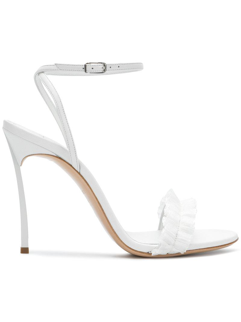 clearance fashion Style cheap sale discount Casadei ruffle trim sandals clearance low shipping sale official 6jKBg