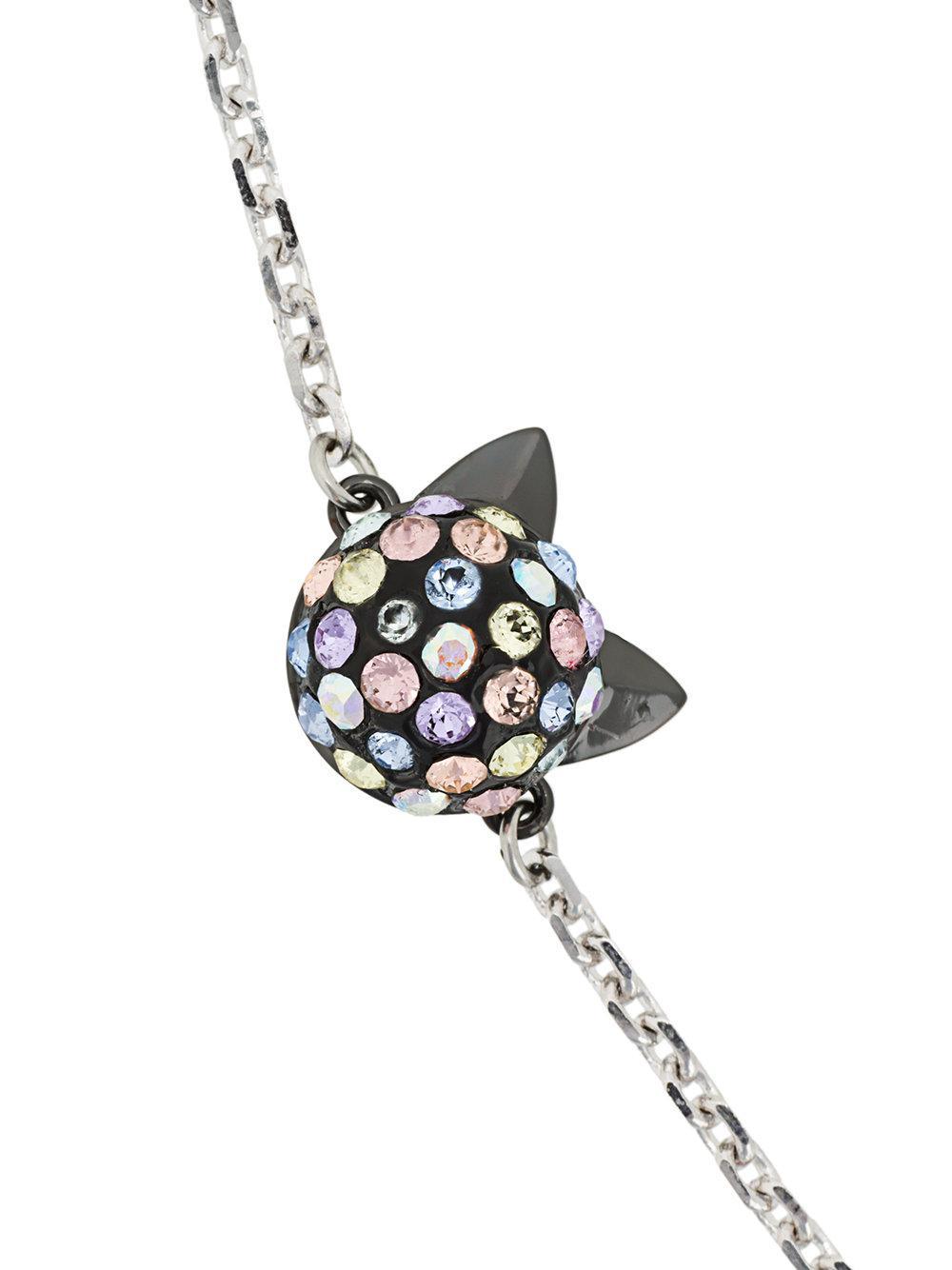 Karl Lagerfeld Cry Choupette Rainbow necklace - Metallic nU3x8
