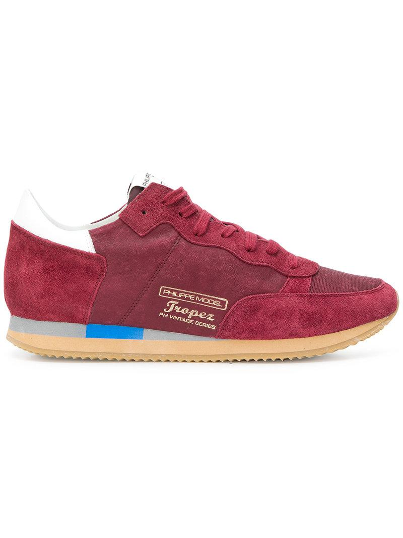 Philippe Model Paradis Sneakers in Red for Men - Lyst e435cabcf