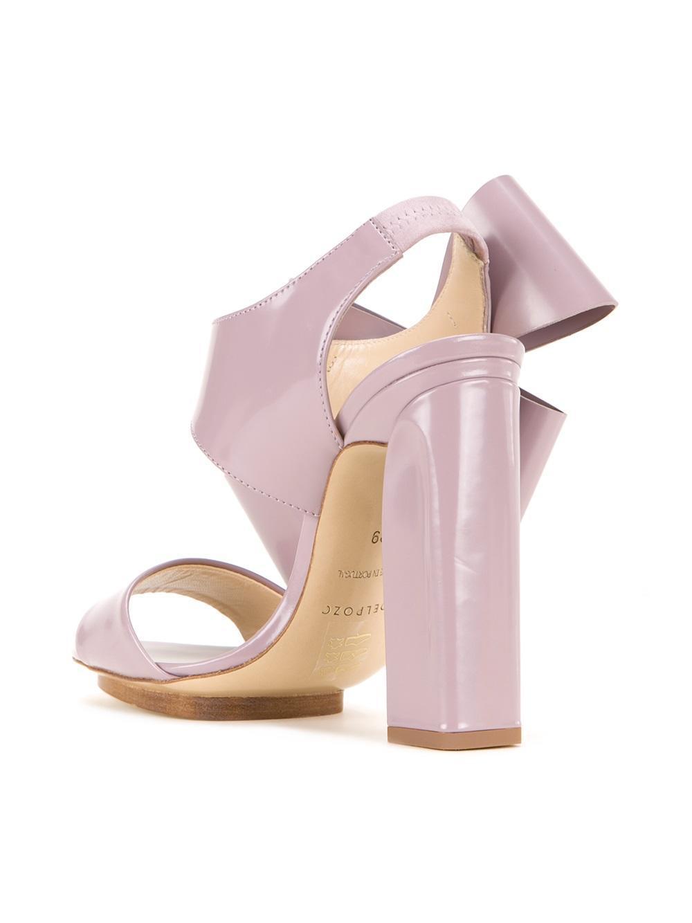 Delpozo Sandales Arc Surdimensionné - Rose Et Violet KNLJW3Zd