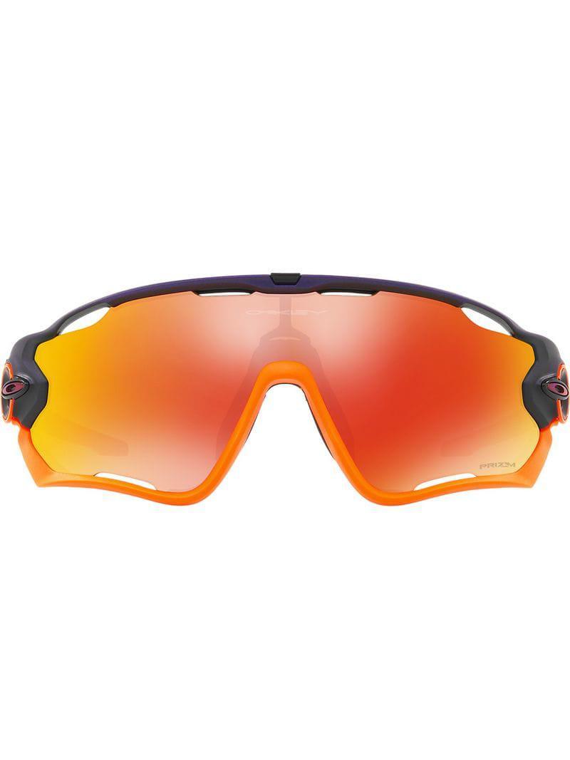 59b2bb538d Oakley Flight Jacket Sunglasses in Purple for Men - Lyst