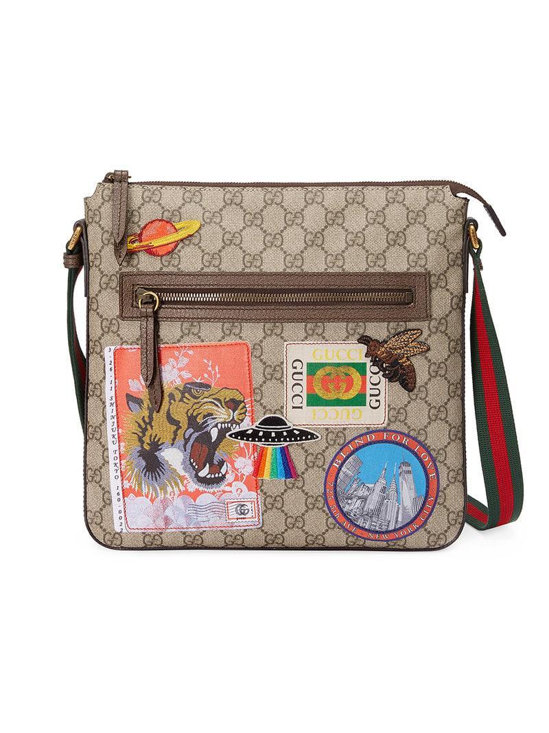 e92ba434f1e5 Gucci - Multicolor Courrier Soft GG Supreme Messenger for Men - Lyst. View  fullscreen