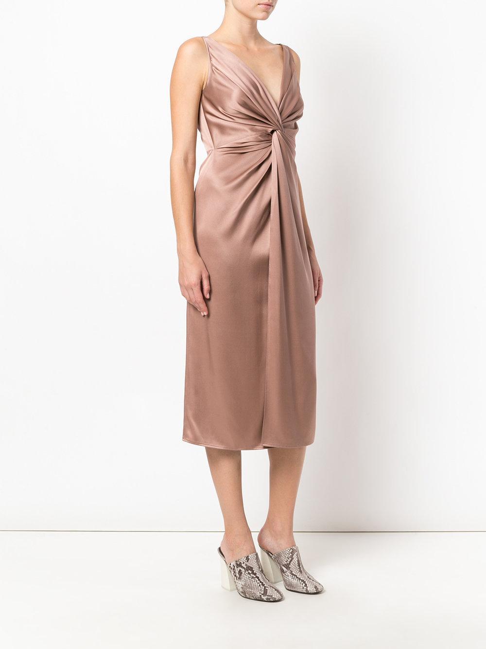Mia satin-twist dress - Pink & Purple Sies Marjan ozXocrt
