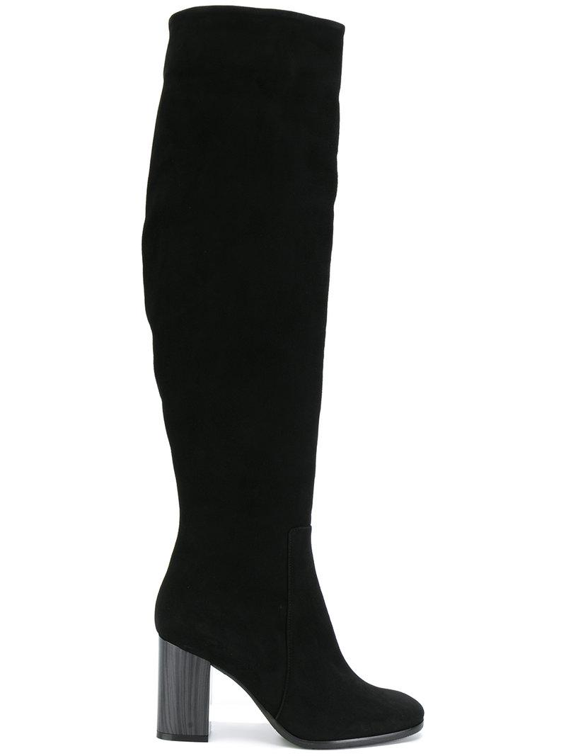 contrast heel knee high boots - Black Baldinini NKGV8