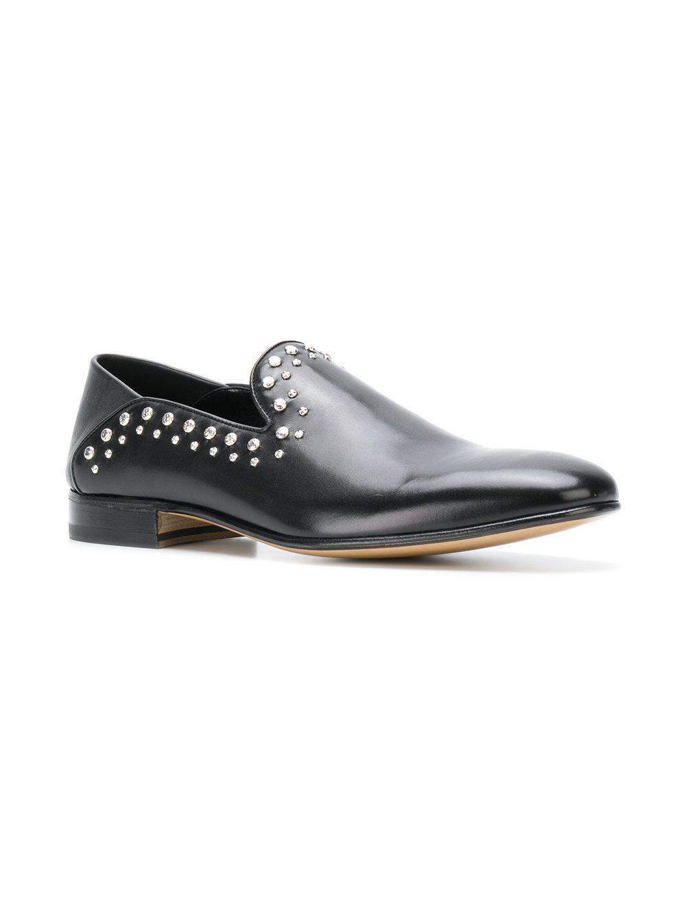 72cdd0520a8 Lyst - Alexander McQueen Studded Loafers in Black for Men