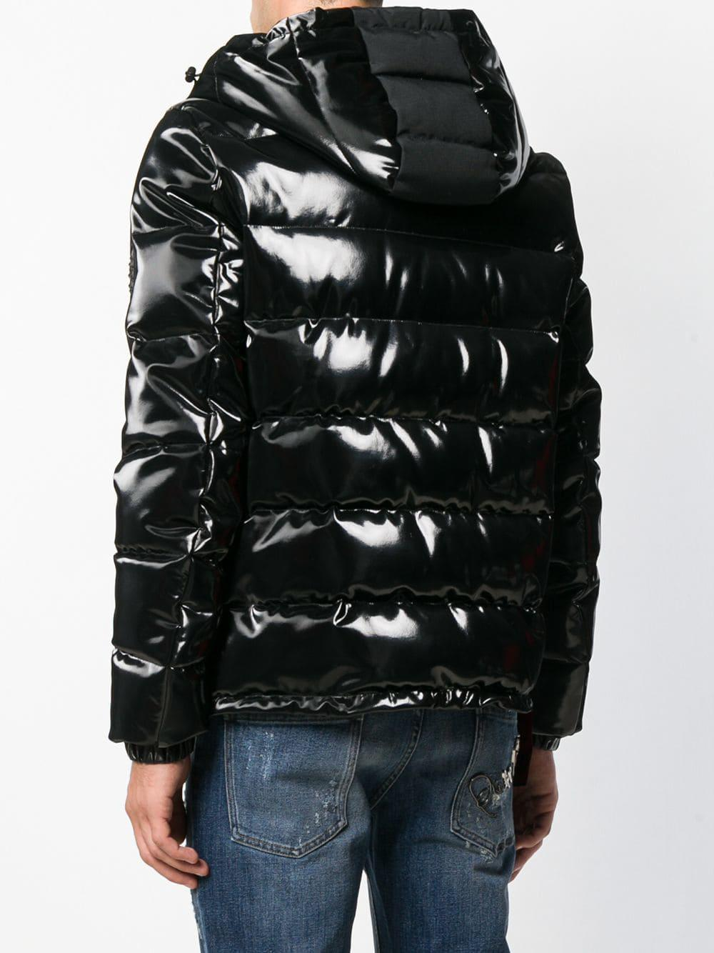0ab538b764c Philipp Plein Vinyl Padded Jacket in Black for Men - Lyst
