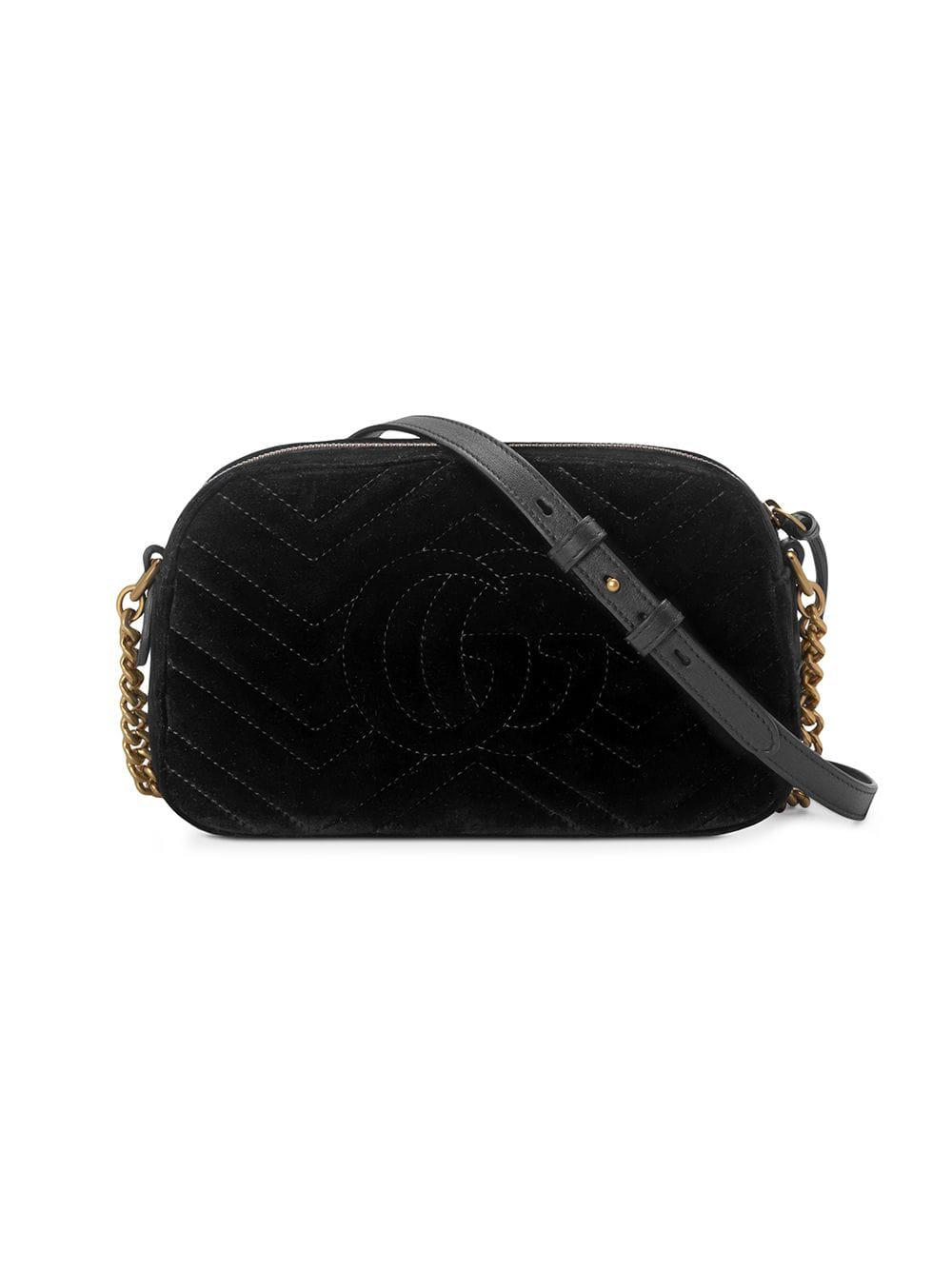 2d712f35ed75d Gucci GG Marmont Small Shoulder Bag in Black - Save 16% - Lyst