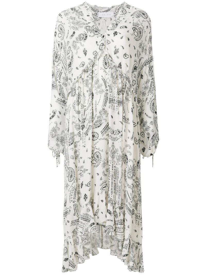 Lyst - Robe mi-longue Baphir Iro en coloris Blanc 54b91347ea9c