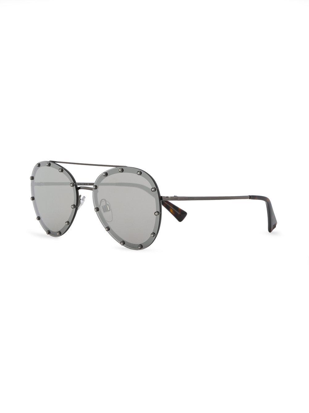Valentino Garavani Rockstud Embrace sunglasses - Metallic Valentino kyvEJGQJv