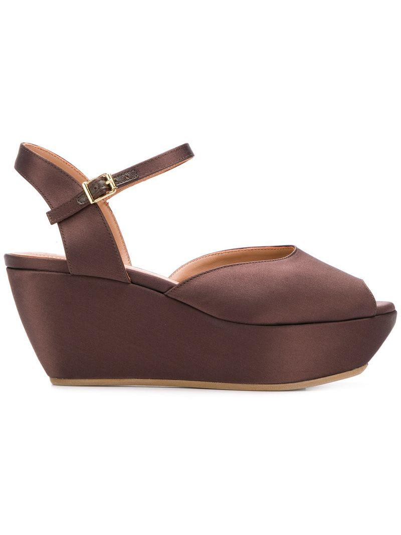50ada1be9 Lyst - Marni Zeppa Wedge Sandals in Brown
