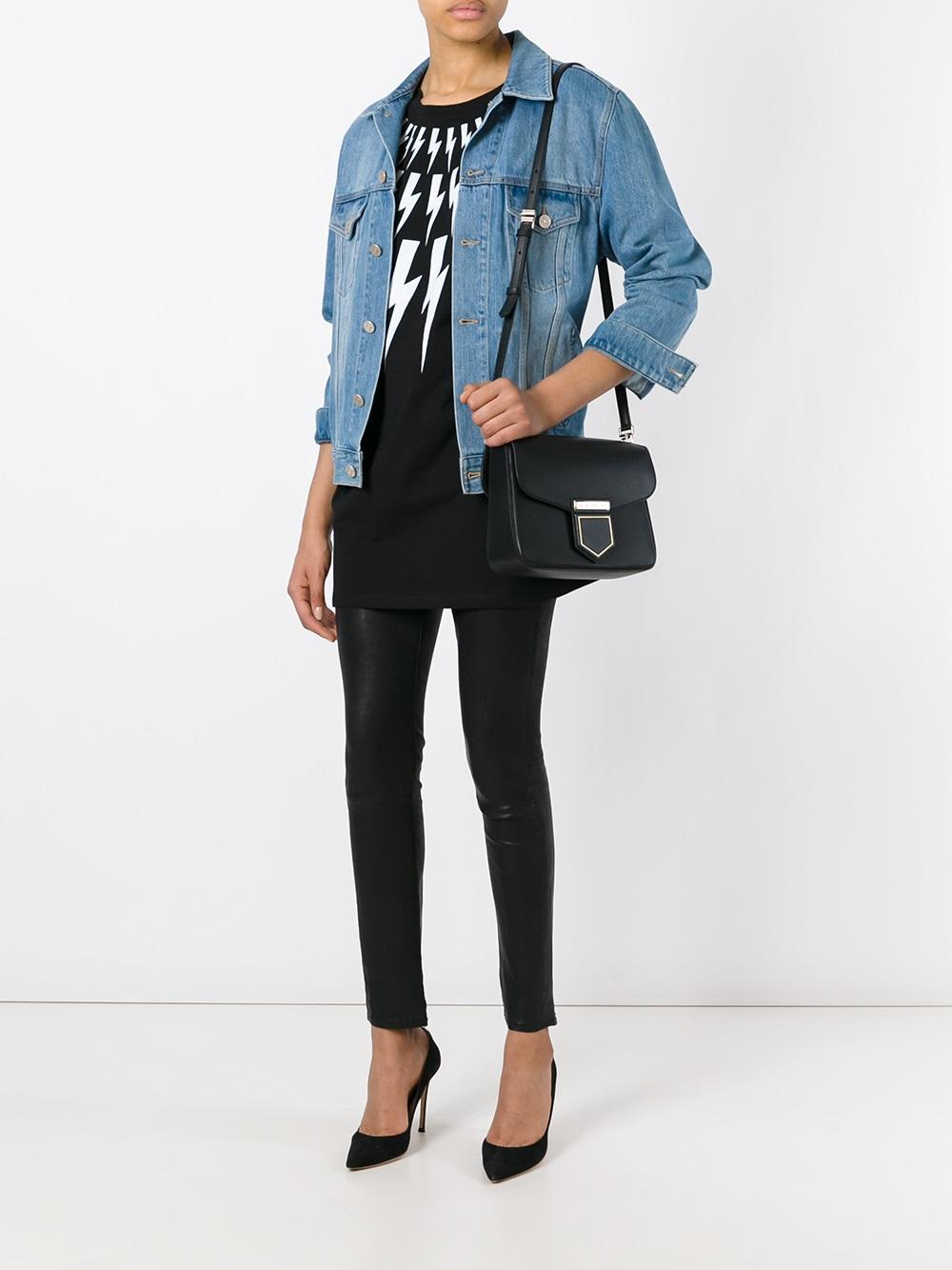 374e2e04bba3 Lyst - Givenchy Nobile Leather Shoulder Bag in Black