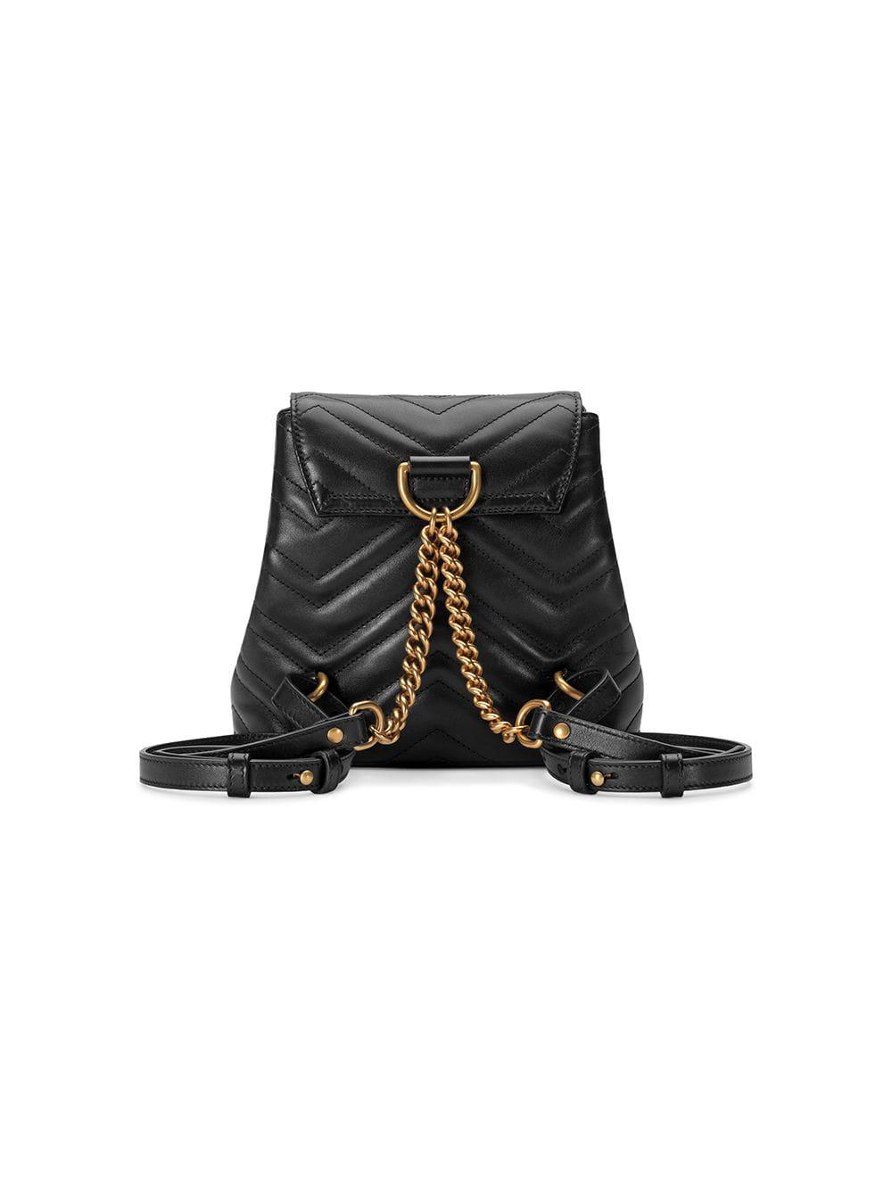 448dd7ceb495 Gucci - Black Gg Marmont Matelassé Backpack - Lyst. View fullscreen