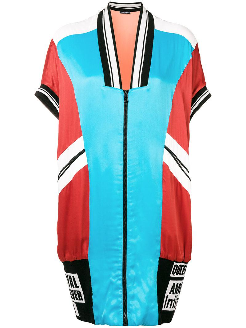 Dolce & Gabbana short sleeve color-blocked bomber jacket Outlet Original Clearance Latest Collections Clearance Marketable Sale Visit qx7HO