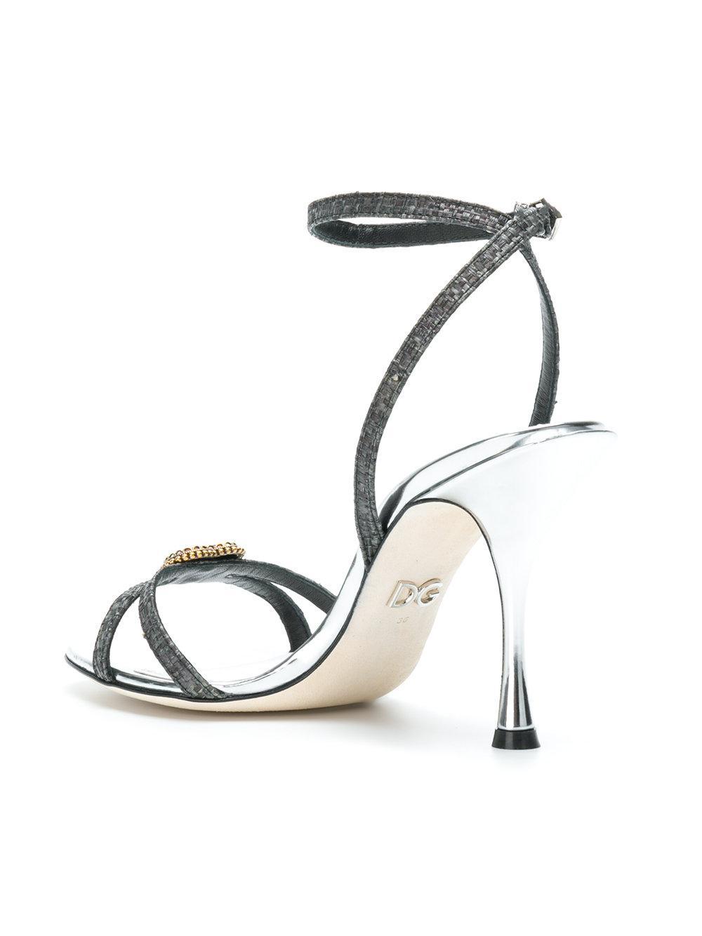 Sandales Embelli Coeur - Gris Dolce & Gabbana Sortie D'usine 2018 Prix Pas Cher Style De Mode De Sortie Mastercard BddDuTkbo