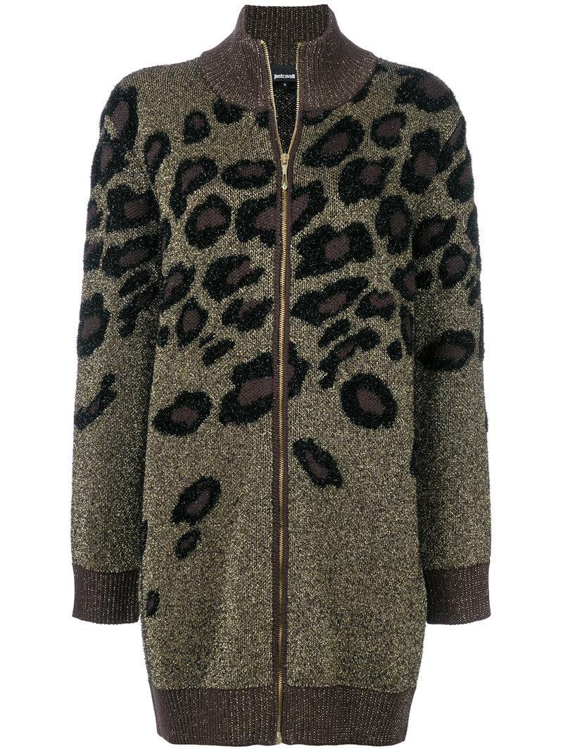 leopard pattern cardigan - Metallic Just Cavalli Cheap Best With Mastercard Cheap Price z4jd3s