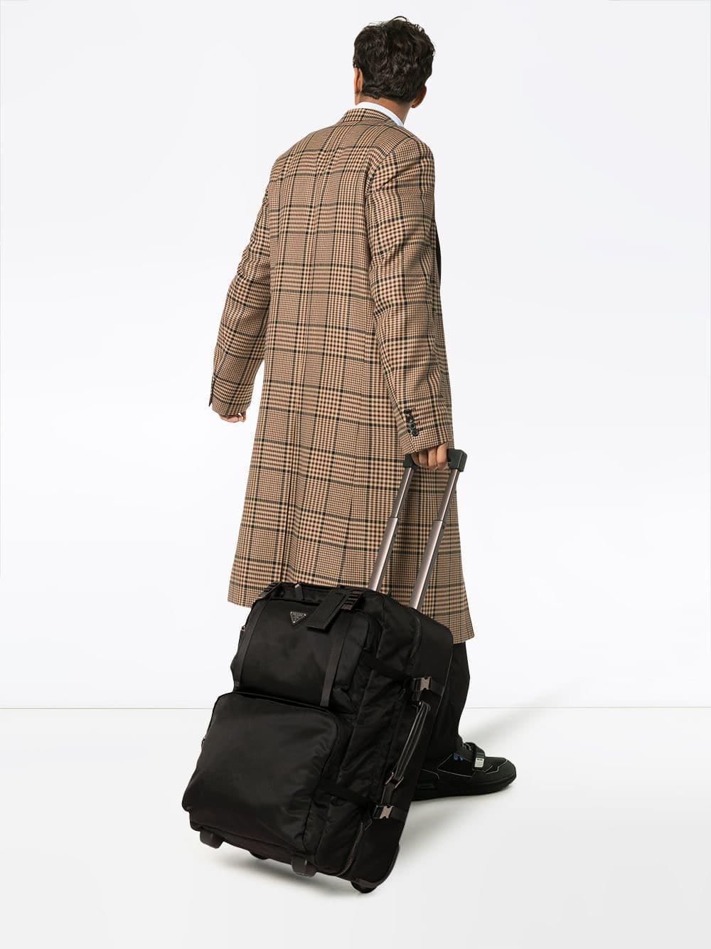 f62bd70bcdc7 Prada Logo Plaque Cabin Trolley in Black for Men - Save 13% - Lyst