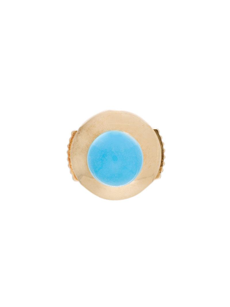 18kt gold petit turquoise stud earring - Metallic Yvonne L</ototo></div>                                   <span></span>                               </div>             <div>                                     <div>                                             <div>                                                     <div>                                                             <span>                                                                   <a href=