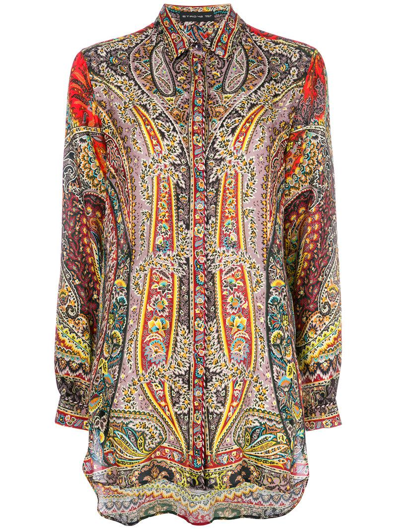 New Fashion Style Of Etro mixed paisley print shirt Visa Payment For Sale Collections Online Shipping Outlet Store Online bwVgKZB7