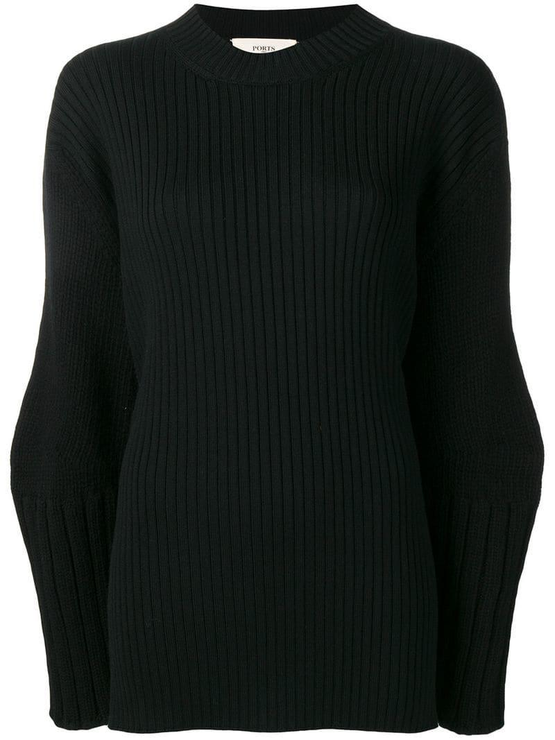 Jumper Black Neck 1961 Ports Women's Crew nXxEC1Xq