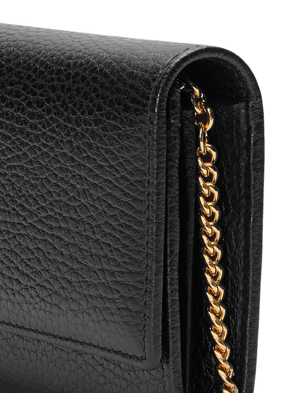 9980a6f244a11e Gucci - Black GG Marmont Leather Chain Wallet - Lyst. View fullscreen