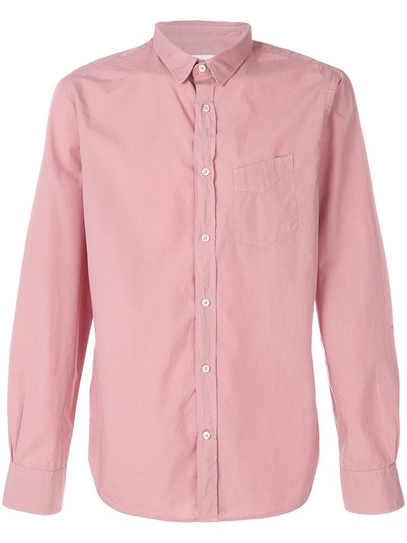 Looking For Outlet Store Cheap Online fitted button shirt - Pink & Purple Officine Generale 4IWS9TNU4B