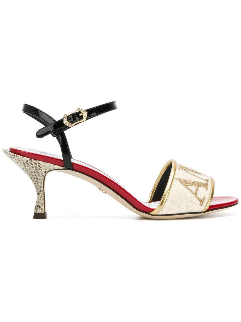 Dolce & Gabbana Sandales à broderies Amore Bon Marché De Nouveaux Styles ZbCKHBr