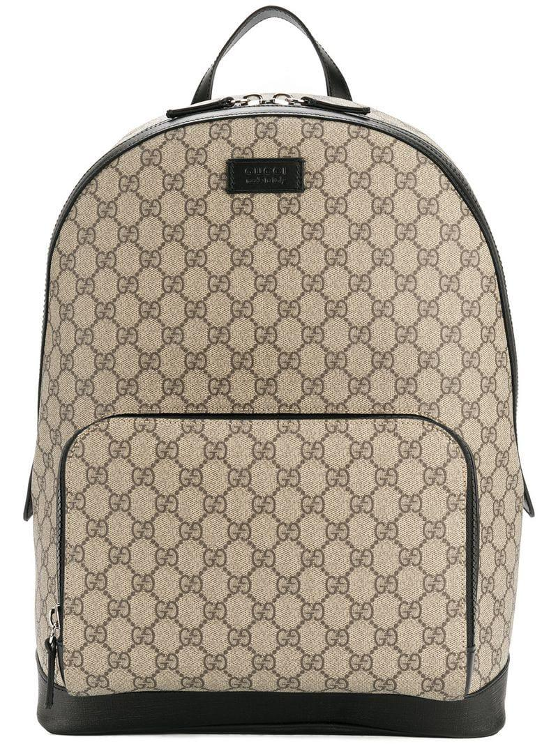 9a66fea26fd2 Lyst - Gucci GG Supreme Backpack in Brown for Men